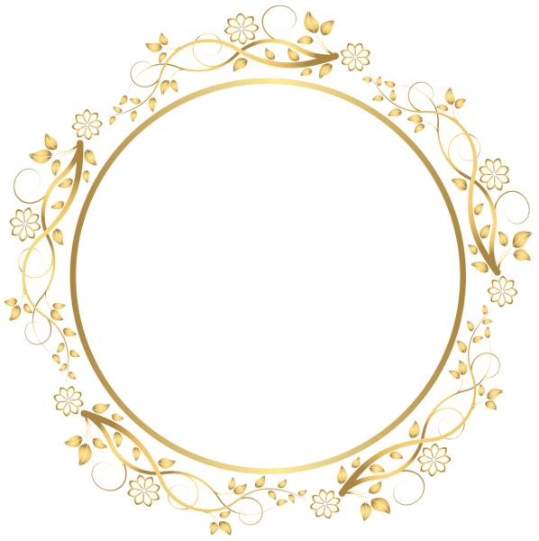 Free blank book template png transparent background clipart vector 3d image freeuse Gold Round Floral Border Transparent PNG Clip Art Image | dekoratív ... image freeuse