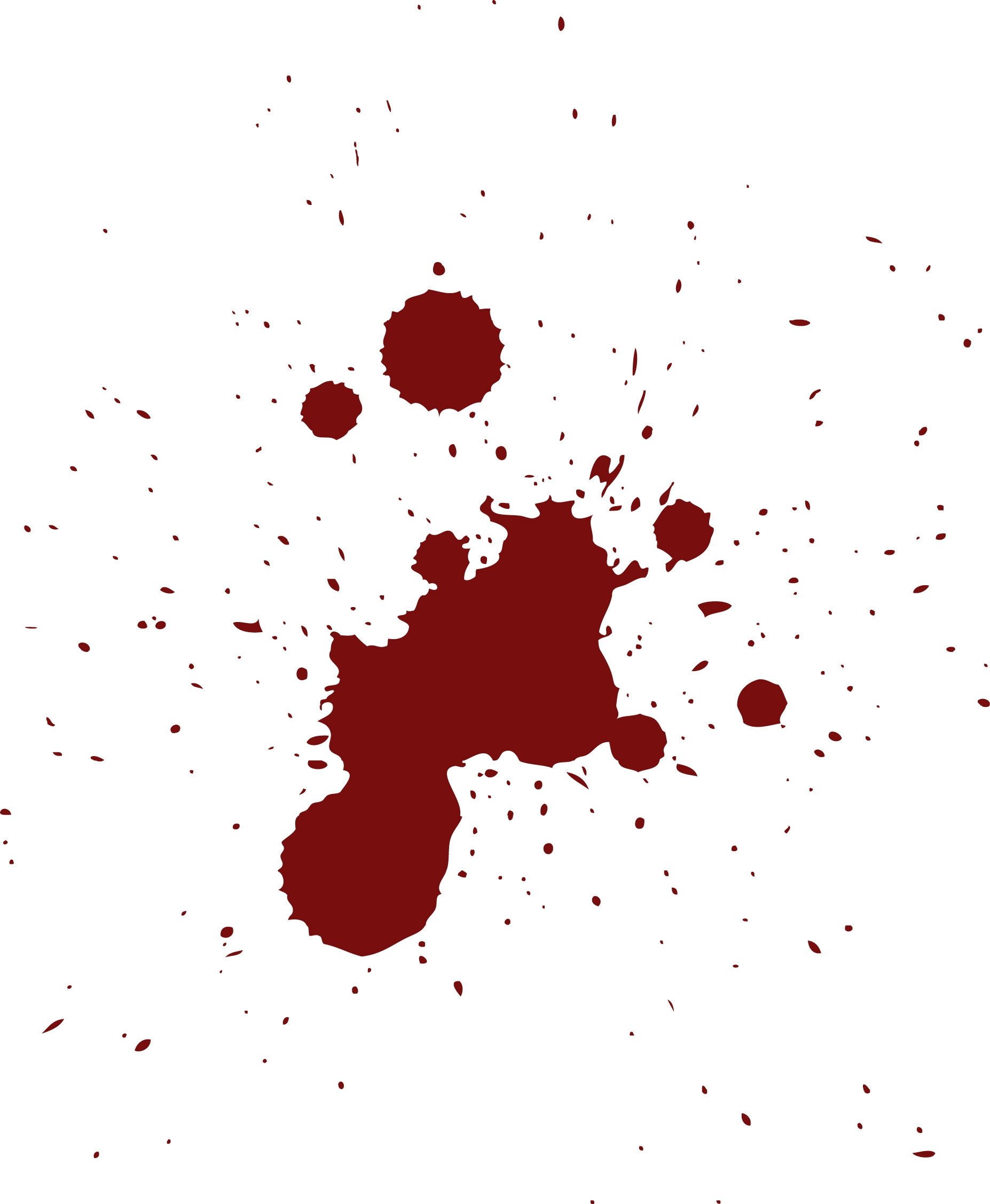 Free blood stain clipart picture black and white Blood splatter clipart - ClipartFest picture black and white