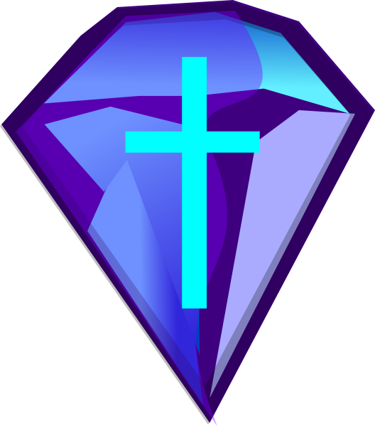 Free blue cross clipart clip transparent stock Blue Purple Diamond With Cross Clip Art at Clker.com - vector clip ... clip transparent stock