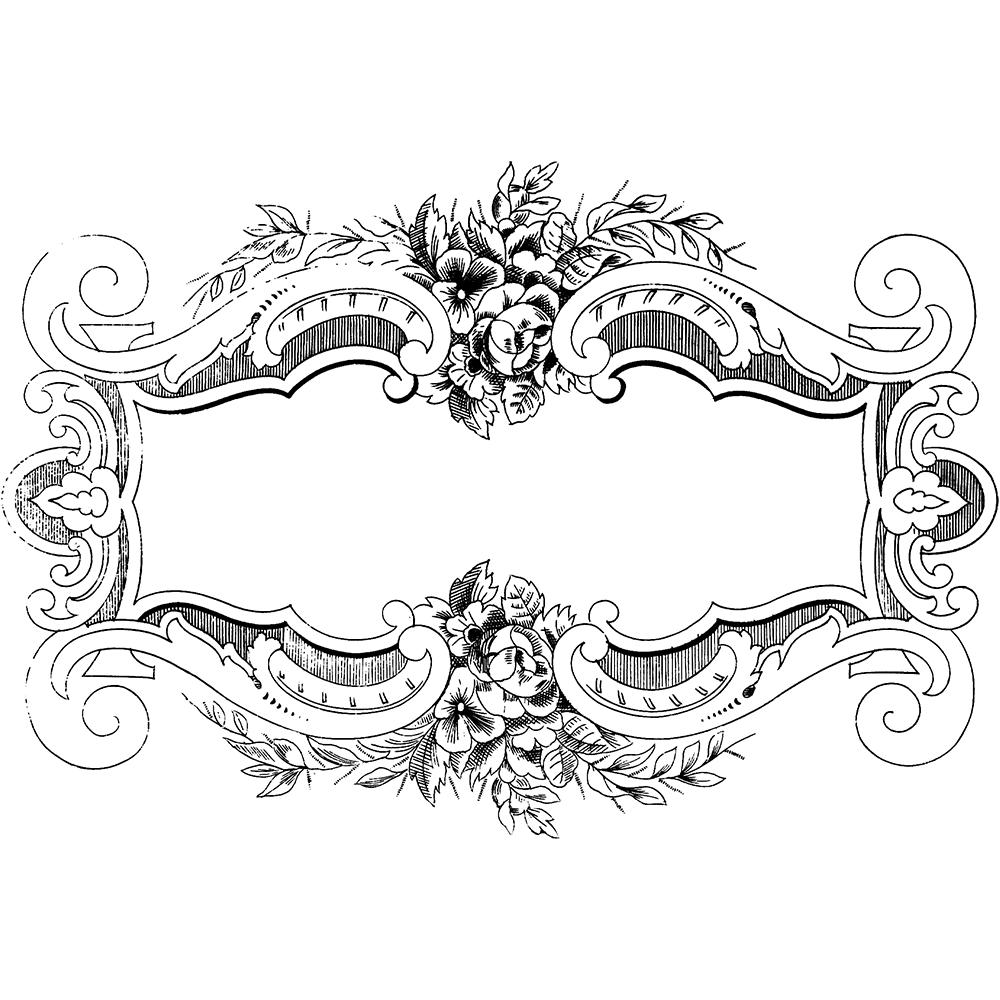 Free blue scrolled floral design clipart header vector freeuse download Free Clip Art - Ornate Floral Vintage Frame | Free clip art ... vector freeuse download