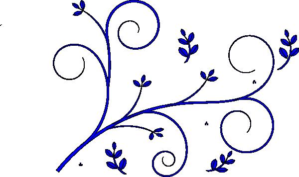 Free blue scrolled floral design clipart header banner transparent download blue flowers clip art | Floral Design Blue clip art - vector clip ... banner transparent download