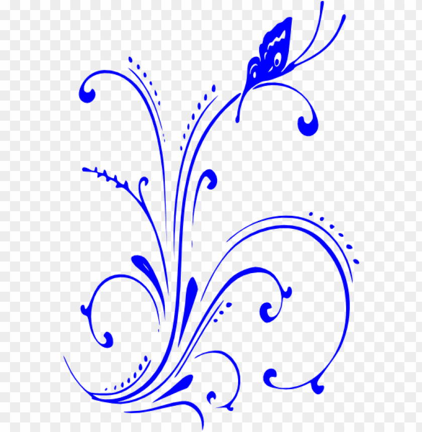 Free blue scrolled floral design clipart header clipart black and white stock blue flower clipart blue scroll - royal blue wedding border PNG ... clipart black and white stock