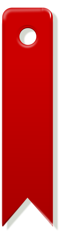 Free bookmark clipart png black and white stock Free Clipart: Red bookmark   rg1024 png black and white stock