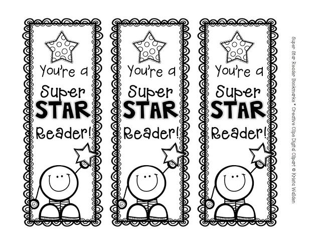 Free bookmark clipart png free The Creative Chalkboard: Free Super Star Reader Bookmarks! There are ... png free