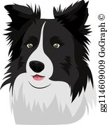 Free border collie clipart svg black and white Border Collie Clip Art - Royalty Free - GoGraph svg black and white