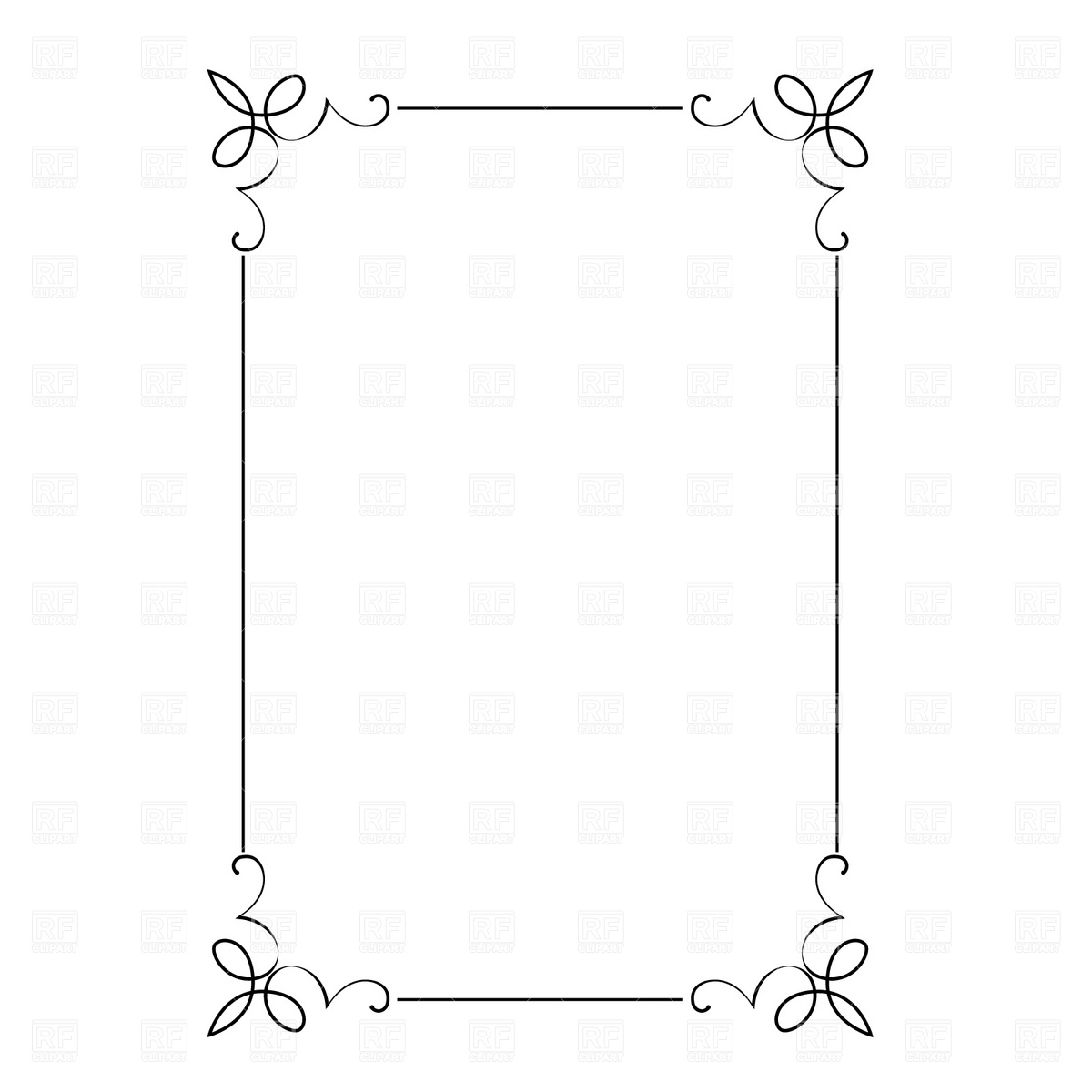 Free borders to download png black and white stock Clip art borders and frames free download - ClipartFest png black and white stock
