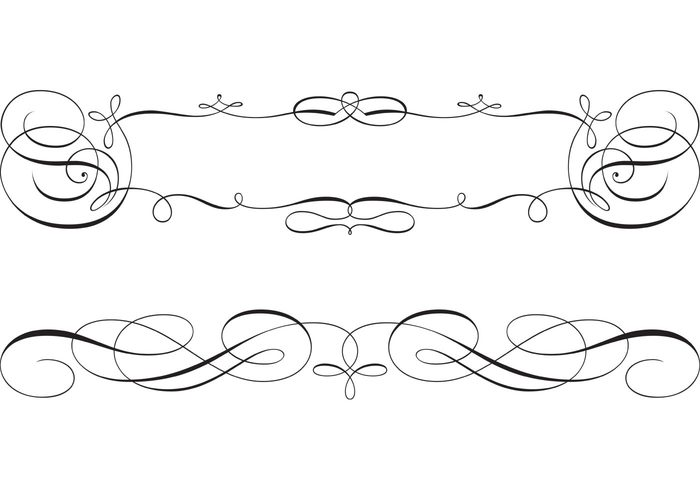 Free borders to download vector freeuse library Free Swirly Scroll Frame and Border Vectors - Download Free Vector ... vector freeuse library