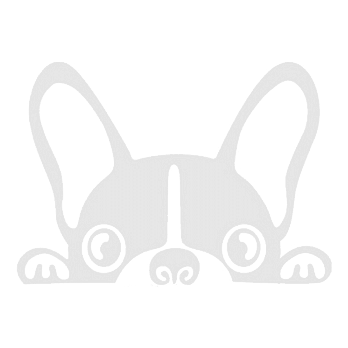 Free boston terrier with crown clipart jpg black and white library Cute Peeking Dog Decal | Animal CRICUT Templates | Pinterest | Products jpg black and white library