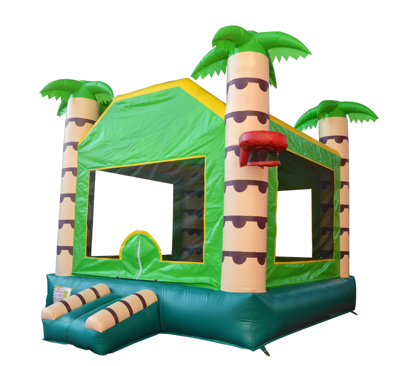 Free bounce house clipart clip art royalty free stock 15' x 15' Tropical Bounce House - Discount Bouncers clip art royalty free stock