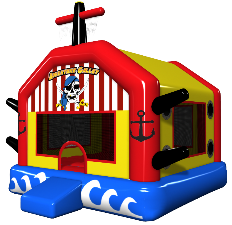 Free clipart bounce house svg freeuse stock Pirate Ship Bounce House | Adventure Galley Inflatable Jumper svg freeuse stock