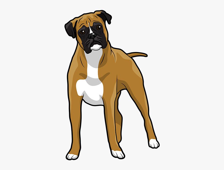 Free boxer dog clipart image transparent library Boxer Emoji & Stickers Messages Sticker-5 - Clip Art Boxer Dog ... image transparent library