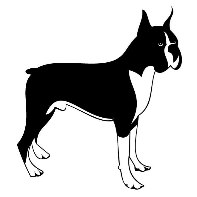 Free boxer dog clipart clipart freeuse BOXER DOG VECTOR CLIP ART - Free vector image in AI and EPS format. clipart freeuse