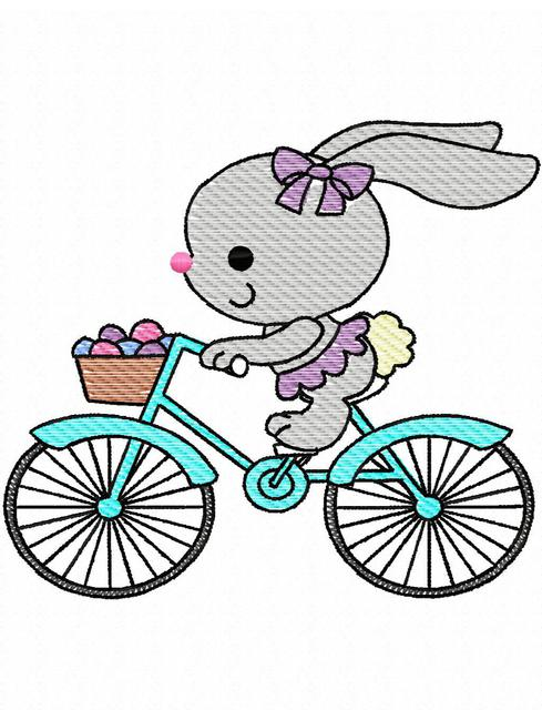 Free bunny riding bicycle clipart. Sketch images at paintingvalley