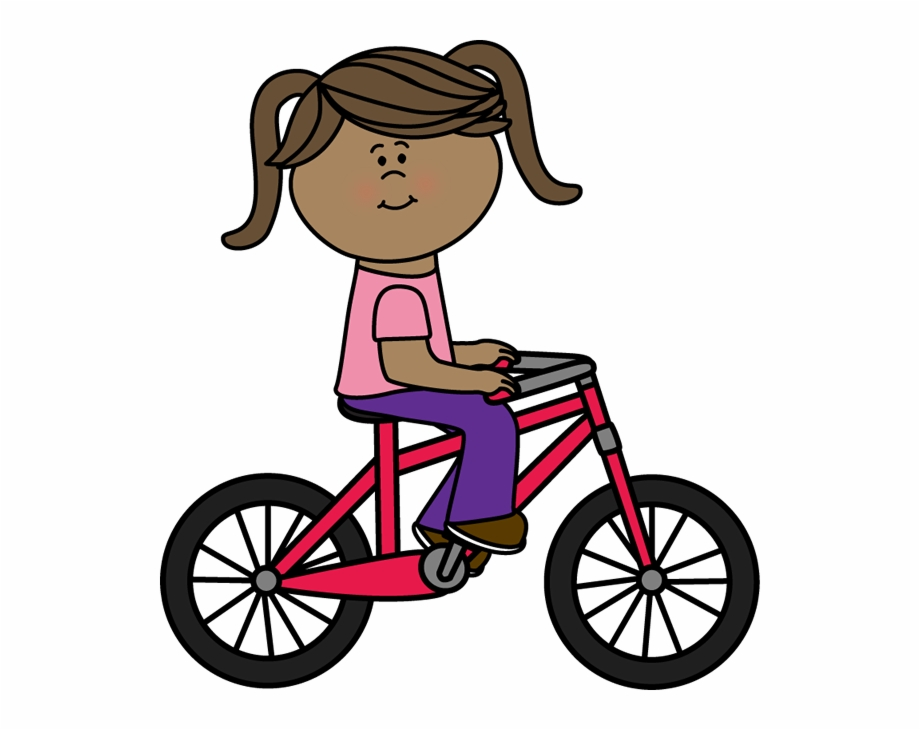 Girl a ride bike. Free bunny riding bicycle clipart