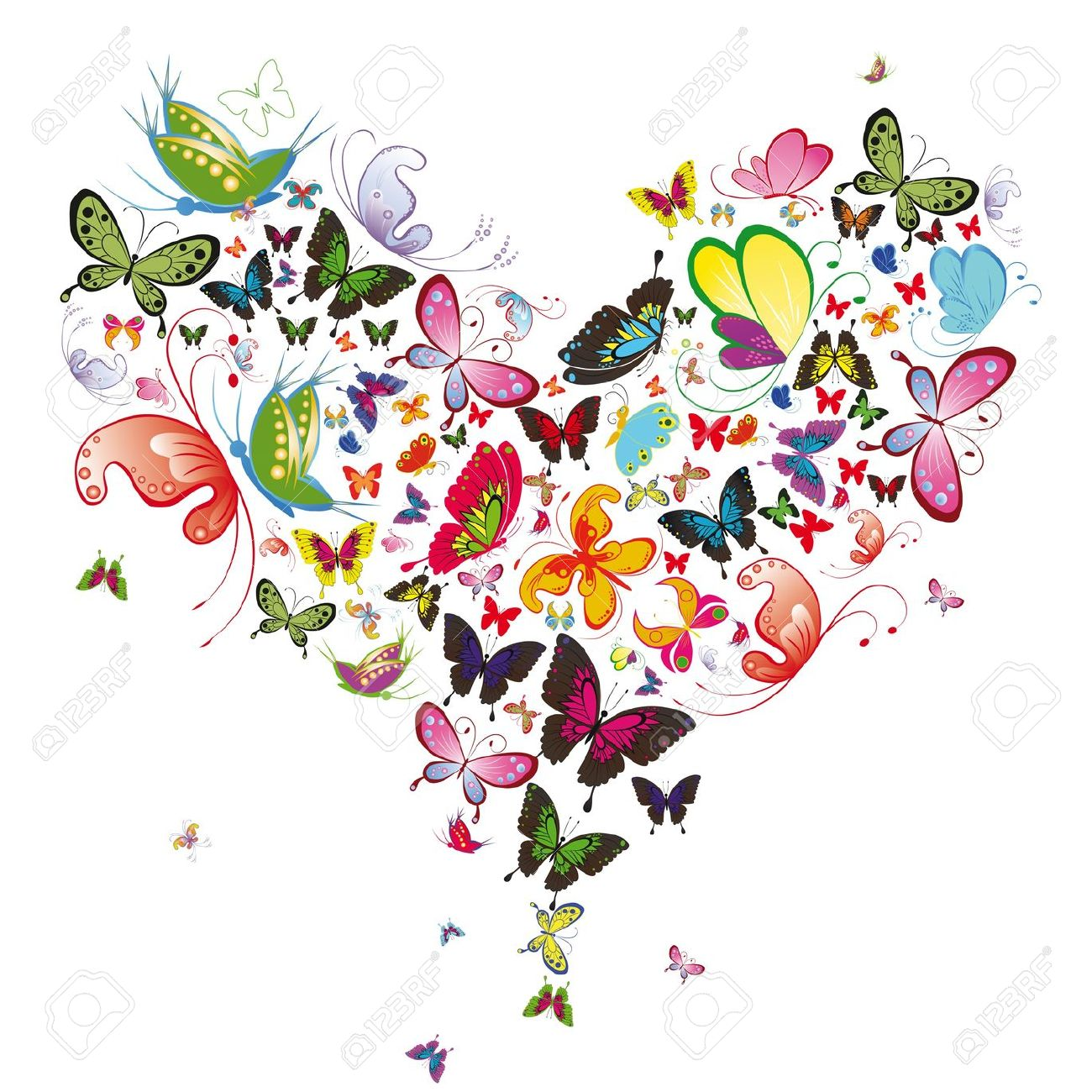 Free butterfly hearts clipart clip art freeuse download Free butterfly hearts clipart - ClipartFest clip art freeuse download