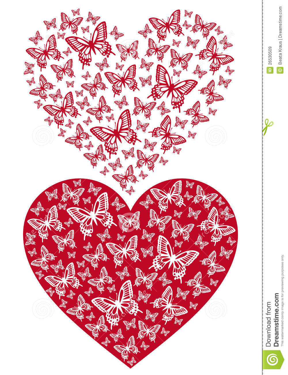 Free butterfly hearts clipart clip art freeuse download Red Butterfly Heart, Vector Royalty Free Stock Images - Image ... clip art freeuse download