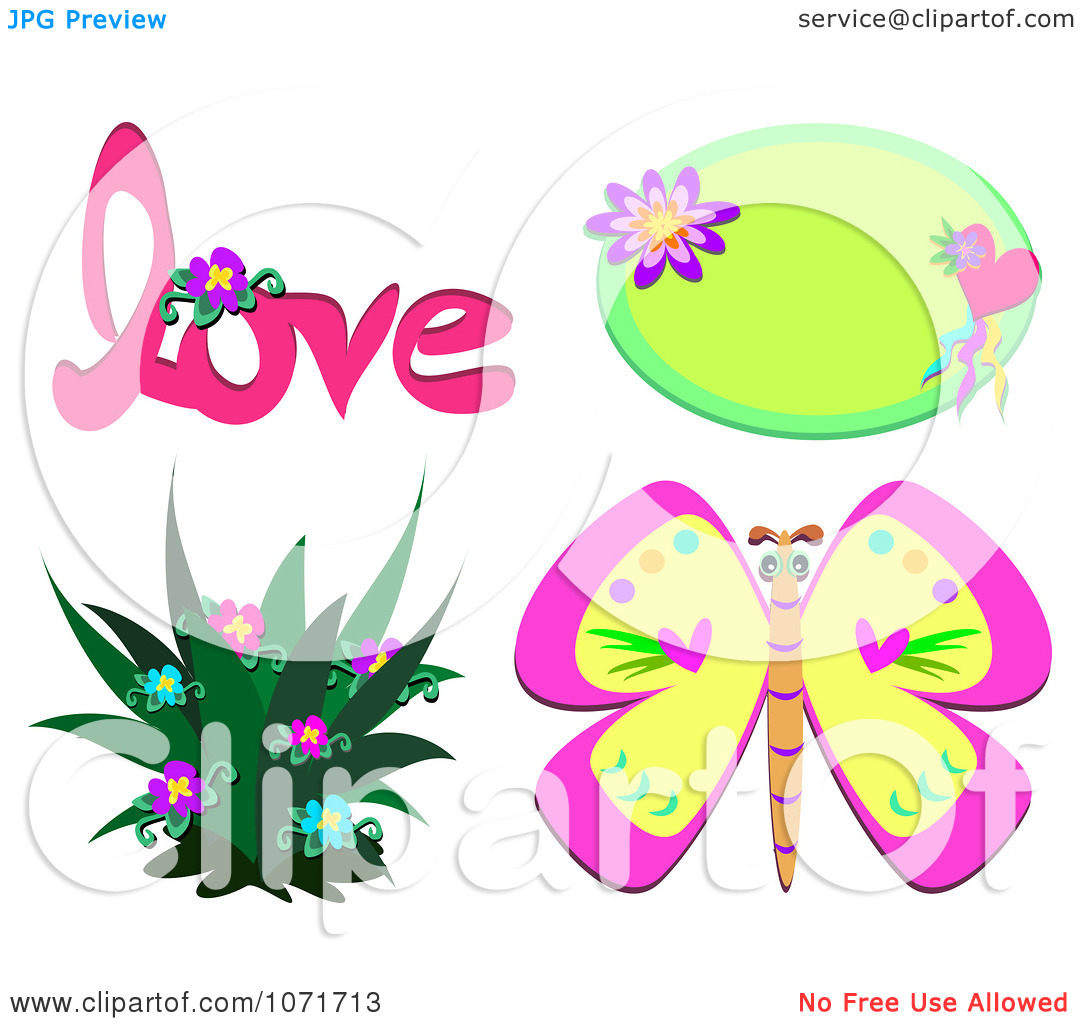 Free butterfly hearts clipart svg royalty free Hearts And Flowers Clipart - Clipart Kid svg royalty free