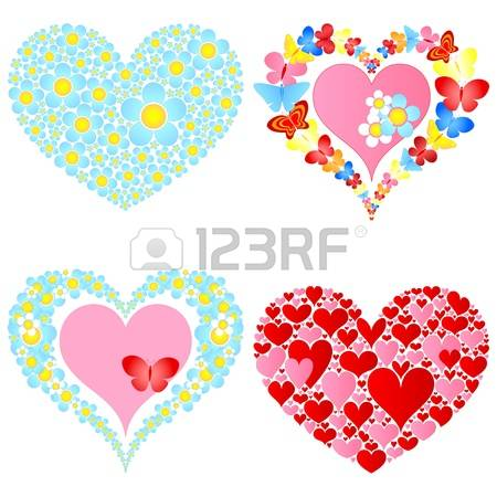 Free butterfly hearts clipart svg free stock 4,357 Valentine Butterfly Heart Stock Vector Illustration And ... svg free stock