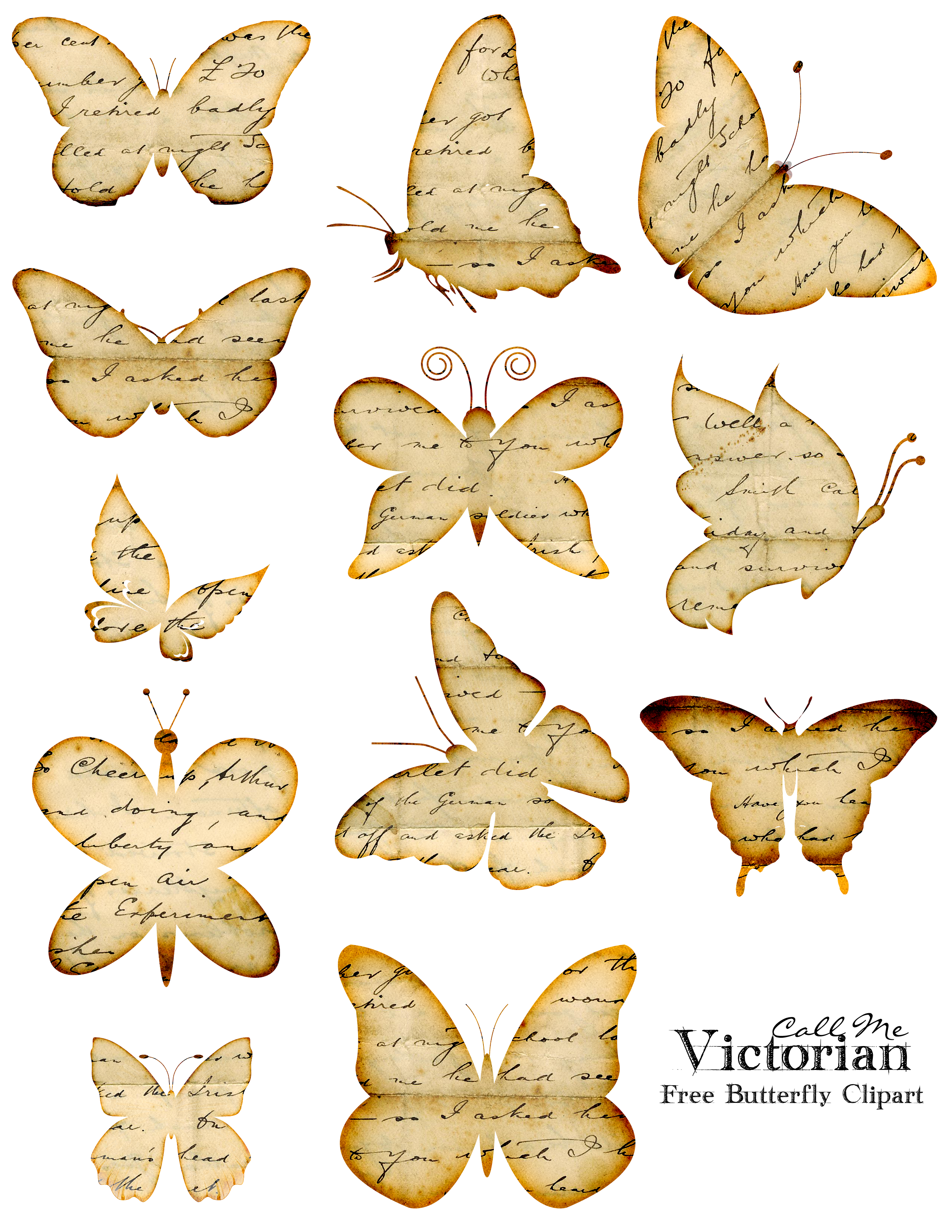 Free butterfly overlay clipart clip free download Free Butterfly Clipart Images - Distressed Handwriting Overlay ... clip free download