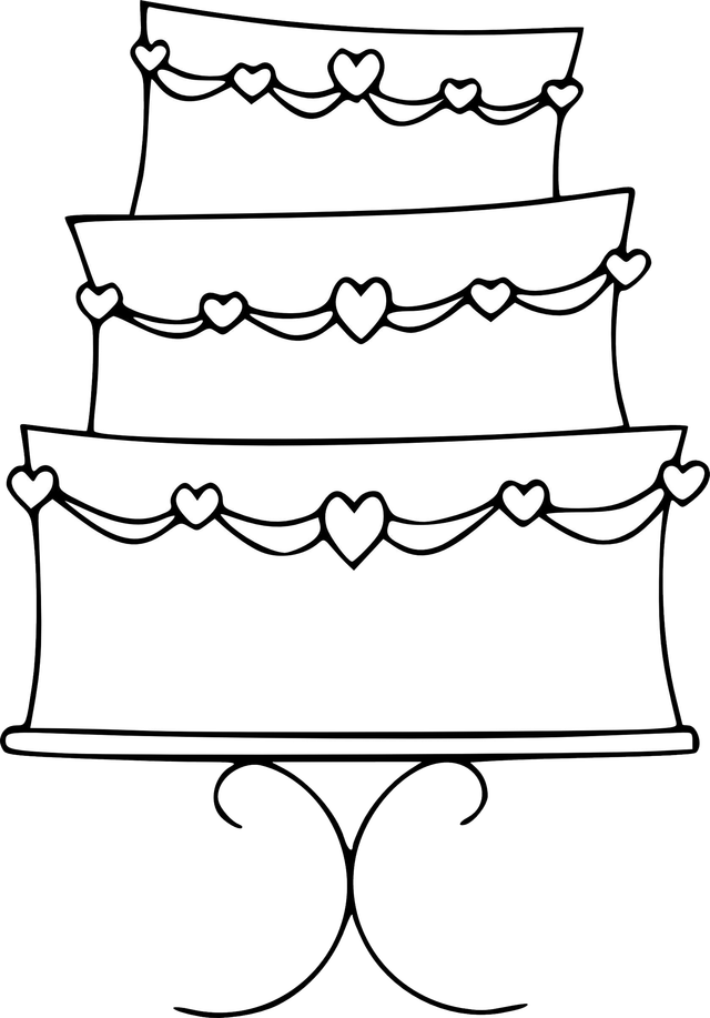 Free cake clipart images vector black and white download Free wedding cake clipart - ClipartFest vector black and white download