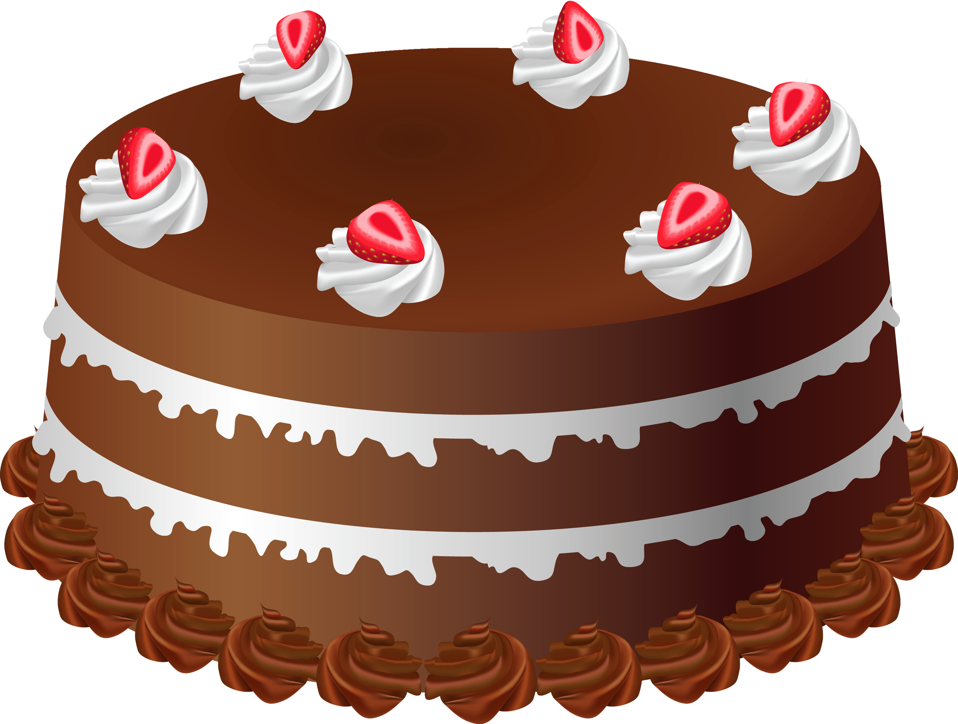 Free cake clipart images vector stock 28+ Collection of Chocolate Cake Clipart Free | High quality, free ... vector stock