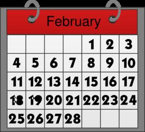 Free calendar clip art graphic black and white Free february calendar clipart - ClipartFest graphic black and white