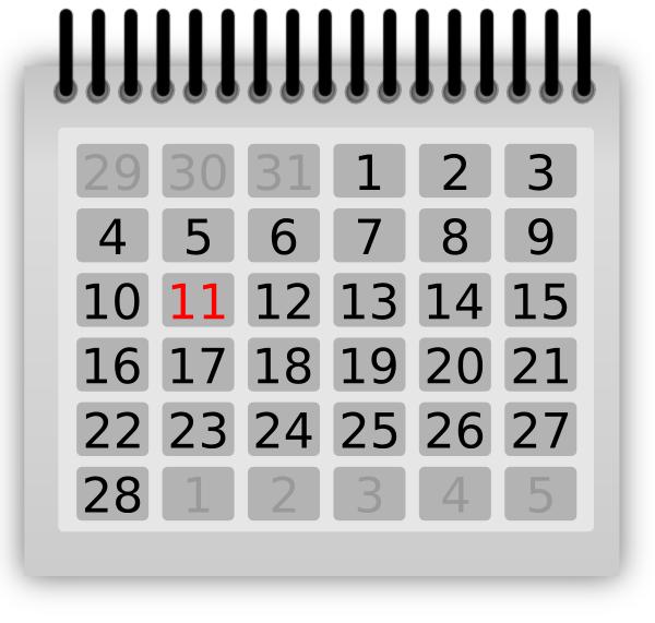 Free calendar clip art jpg library download Free Calendar Clipart - The Cliparts jpg library download