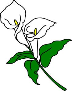 Free calla lily clipart banner royalty free stock Free Calla Lily Clipart & Clip Art Images #16961 - clipartimage.com banner royalty free stock