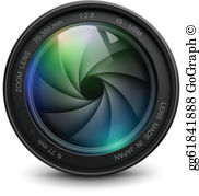 Free camera lens clipart jpg freeuse download Lens Clip Art - Royalty Free - GoGraph jpg freeuse download