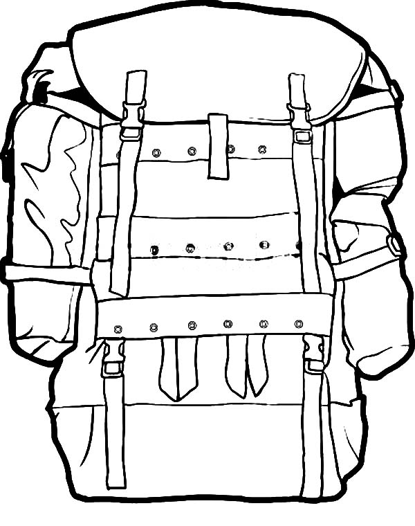 Free camping backpack clipart black and white. Drawing of a download