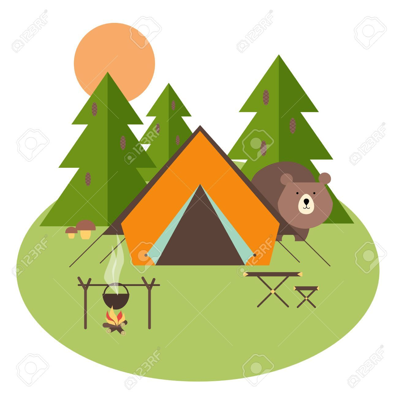 Free camping images clipart png black and white stock Free Camping Clipart 7 - 1299 X 1300 - Making-The-Web.com png black and white stock