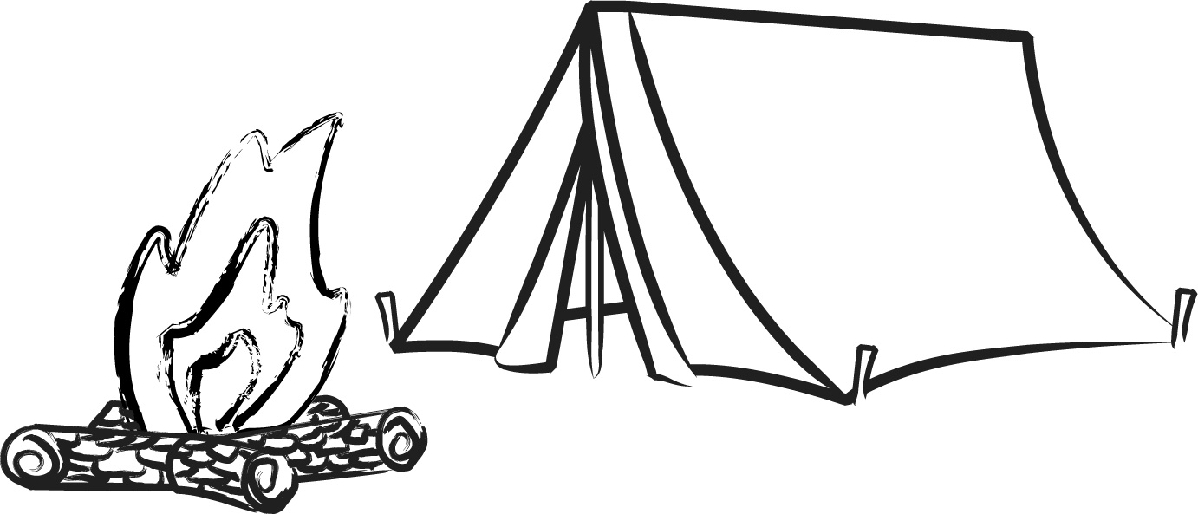 Free camping images clipart black and white image transparent library Free Camping Black And White Clipart, Download Free Clip Art, Free ... image transparent library