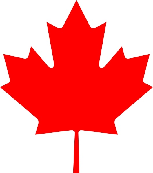 Clipart free images canadian flag graphic free download Flag Of Canada Leaf clip art Free vector in Open office drawing svg ... graphic free download