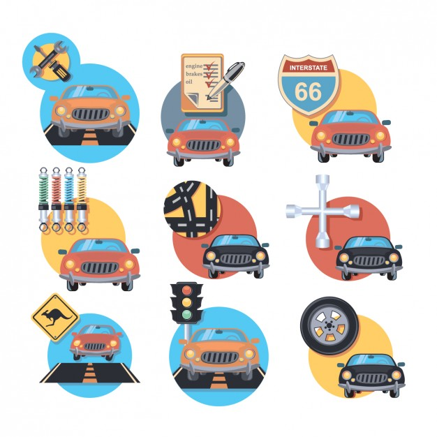 Free car icons clipart. Icon set vector download