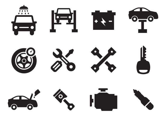Free car icons clipart royalty free download Car Maintenance Icons Vector - Download Free Vector Art, Stock ... royalty free download