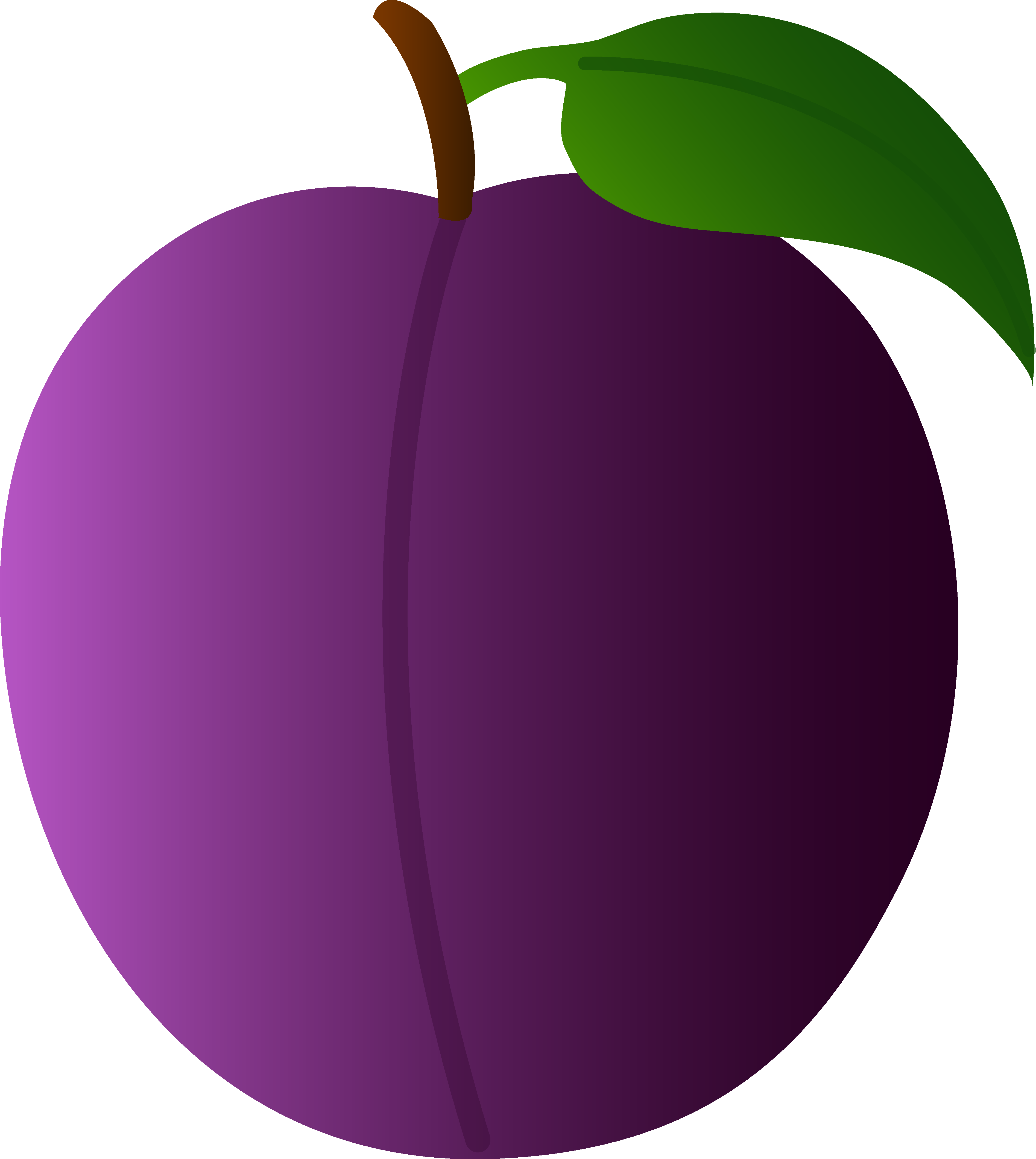 Free cartoon clipart images of apple trees clip free stock Sweet Purple Plum - Free Clip Art clip free stock