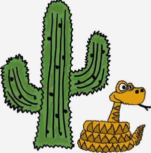 Free cartoon clipart of coyotes cactus rattlesnakes state flag banner free Cactus Desert Cartoon Clothing   Zazzle banner free