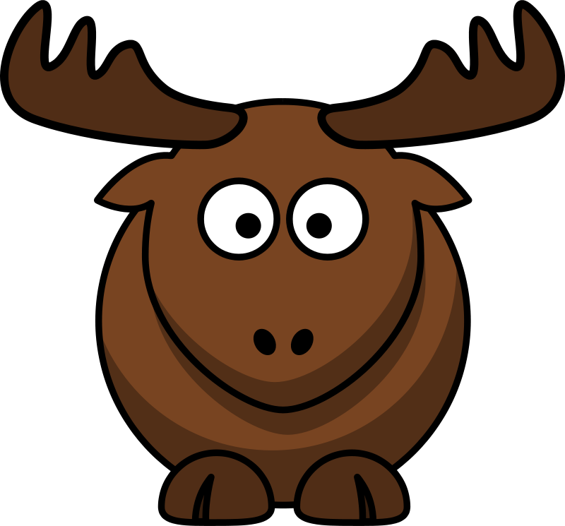 Free cartoon cliparts. Clipart elk lemmling