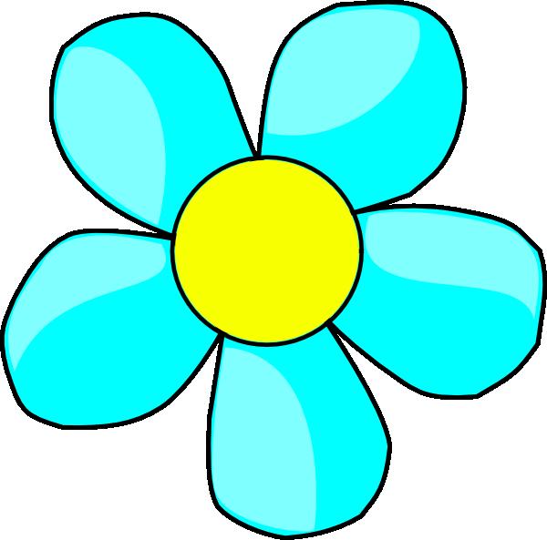 Free cartoon flower clipart free stock Blue Flower Clipart Comic #2524354 free stock