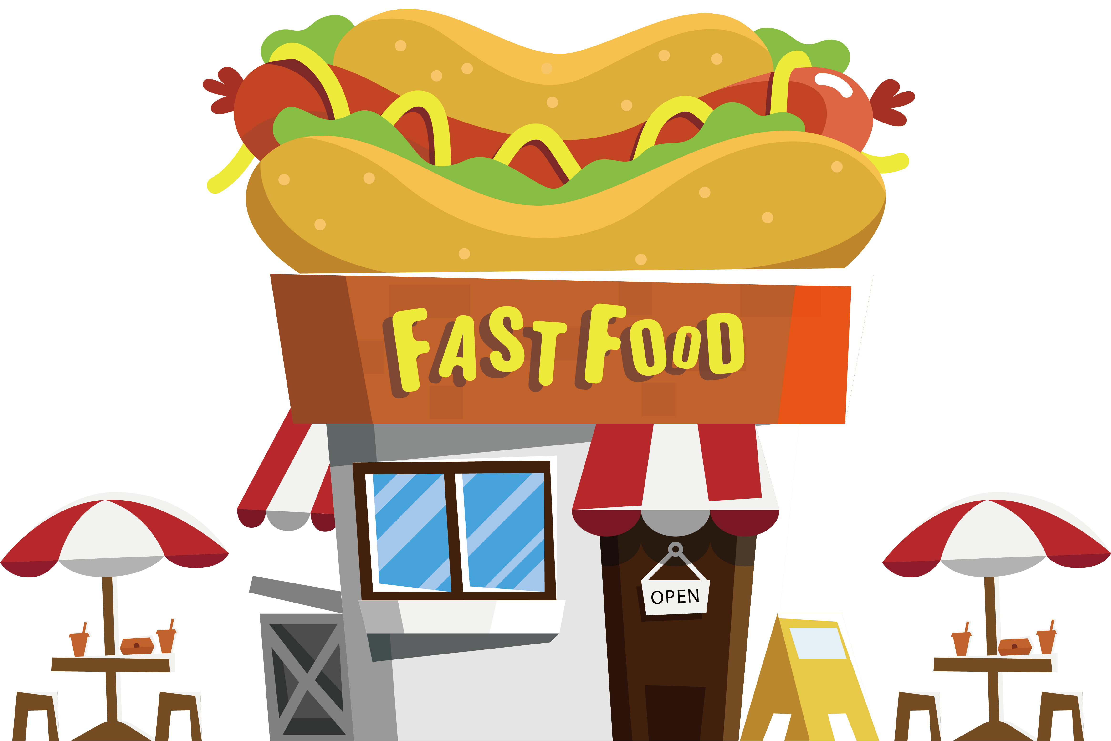 Free cartoon hot dog clipart clipart library library Hot dog Fast food restaurant Buffet - Hot dog snack bar 4661*3109 ... clipart library library