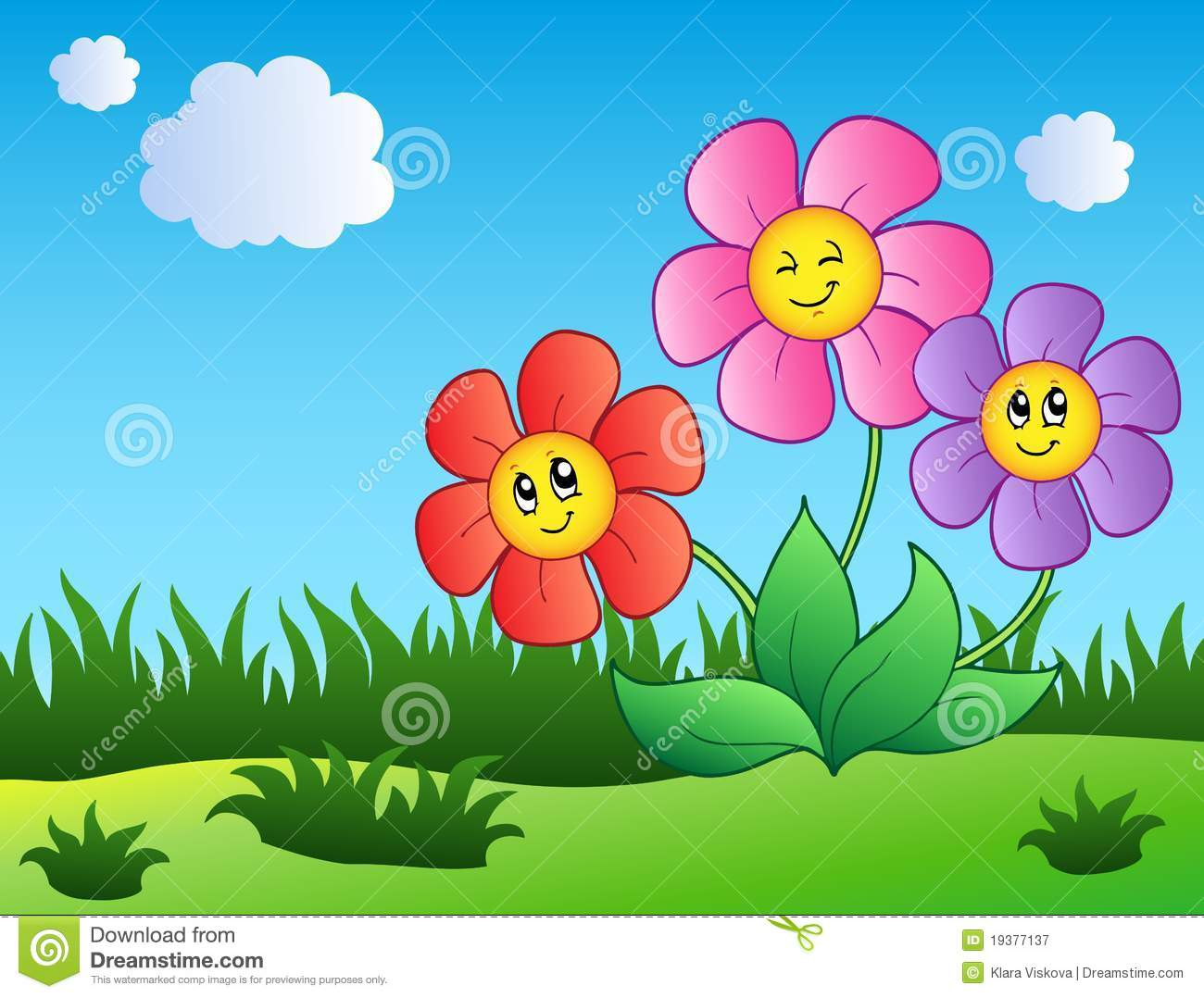 Free cartoon pictures of flowers graphic black and white Three Cartoon Flowers Stock Photos, Images, & Pictures - 494 Images graphic black and white