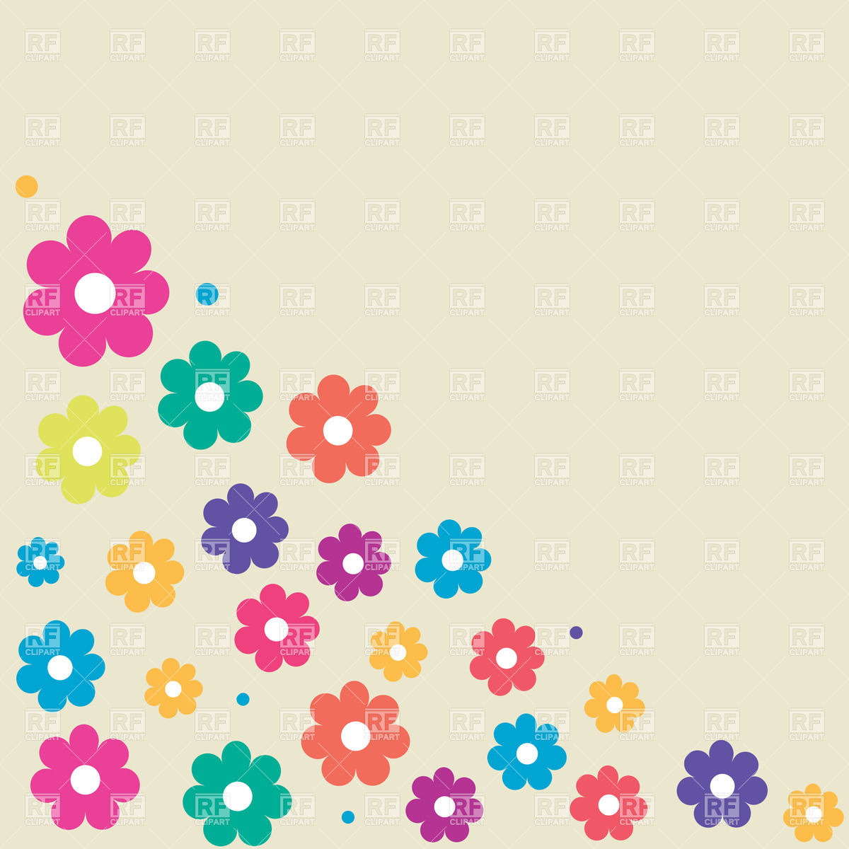 Free cartoon pictures of flowers clip free stock Floral corner with simple cartoon flowers Vector Image #23929 ... clip free stock
