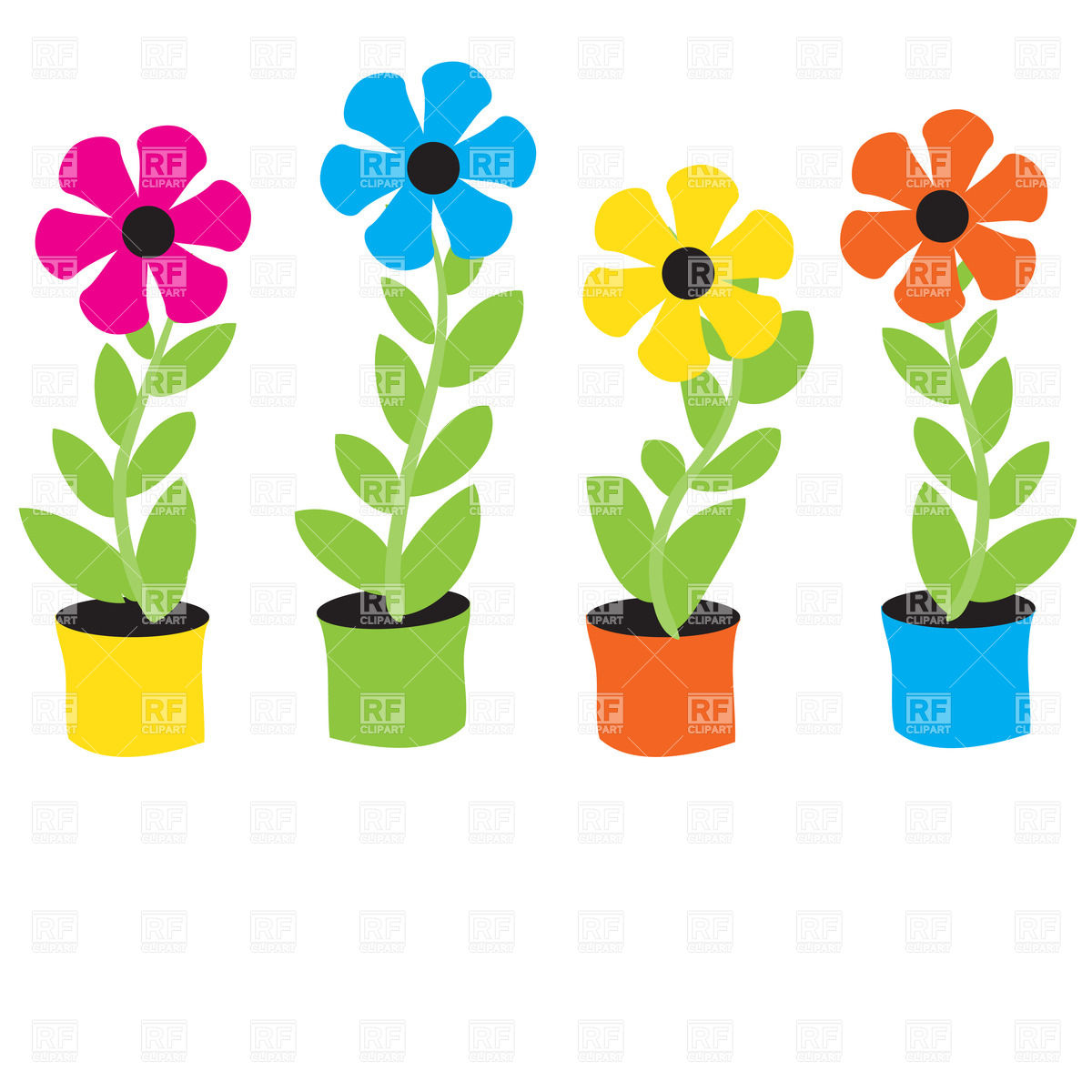 Free cartoon pictures of flowers graphic transparent download Free clipart cartoon flowers - ClipartFest graphic transparent download