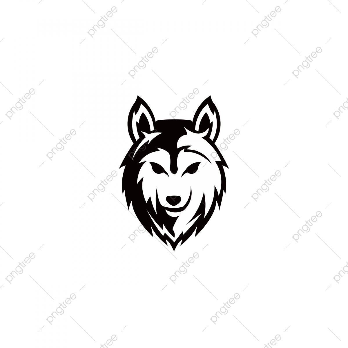 Head png . Free cartoon wolf clipart