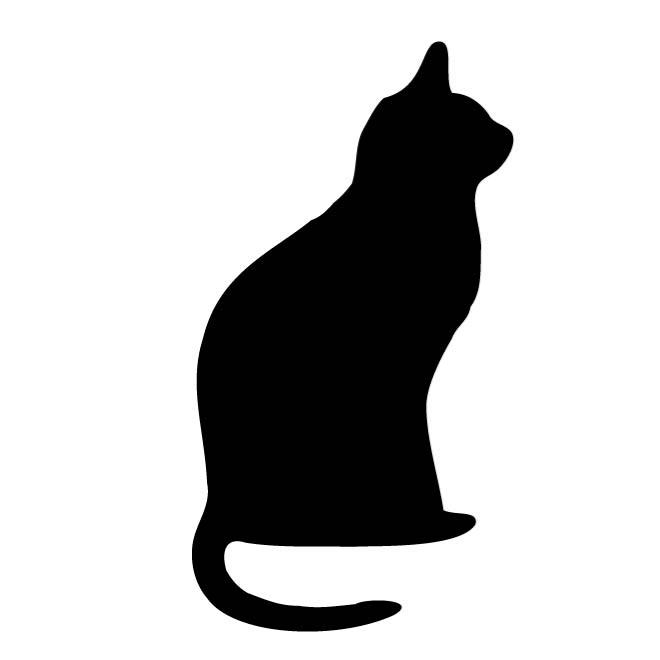 Free cat silhouette clipart graphic free download CAT OUTLINE CLIP ART - Free vector image in AI and EPS format. graphic free download