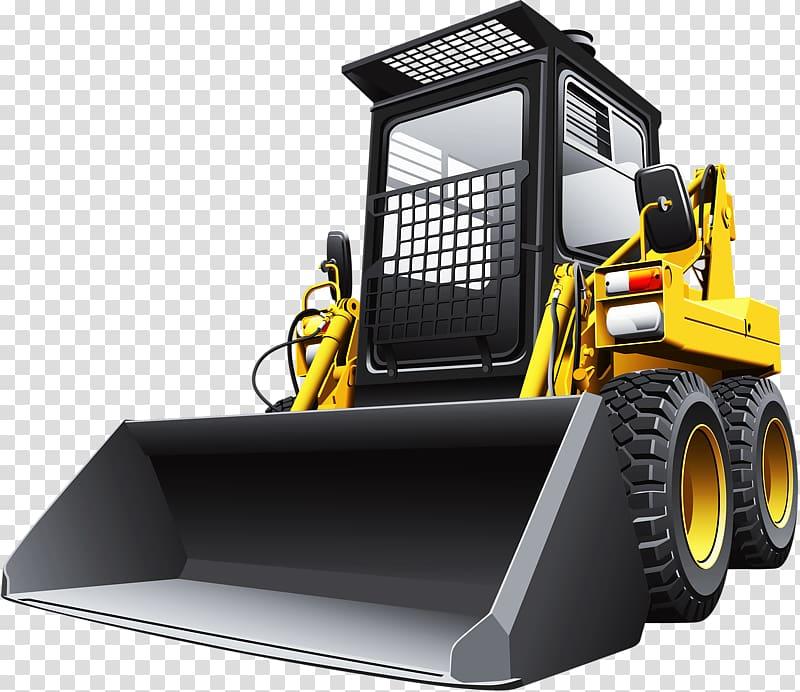 Skid-steer loader , Industrial bulldozer transparent background PNG ... clip art download