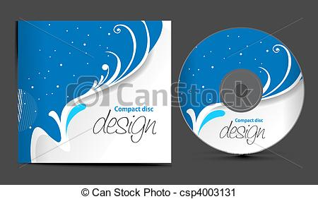 Free cd artwork picture black and white Vector Clip Art of cd cover design - vector cd cover design ... picture black and white