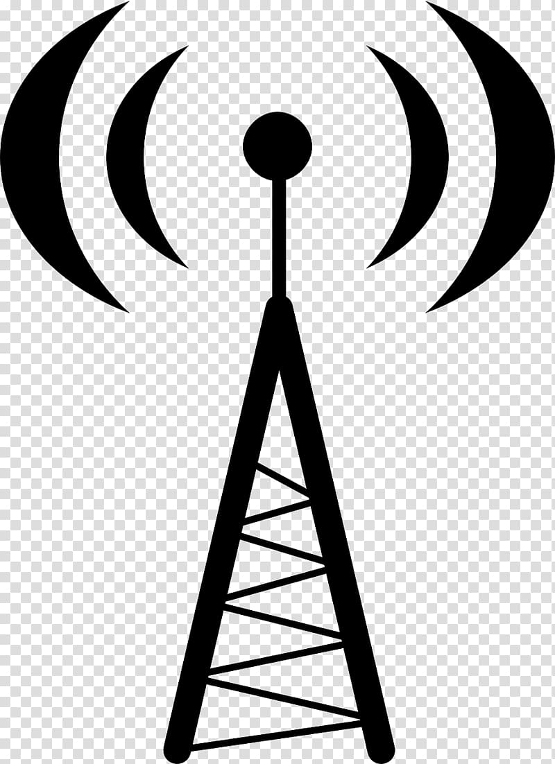 Free cell phoe tower clipart black and white vector freeuse Black transmission tower, Aerials Telecommunications tower Radio ... vector freeuse