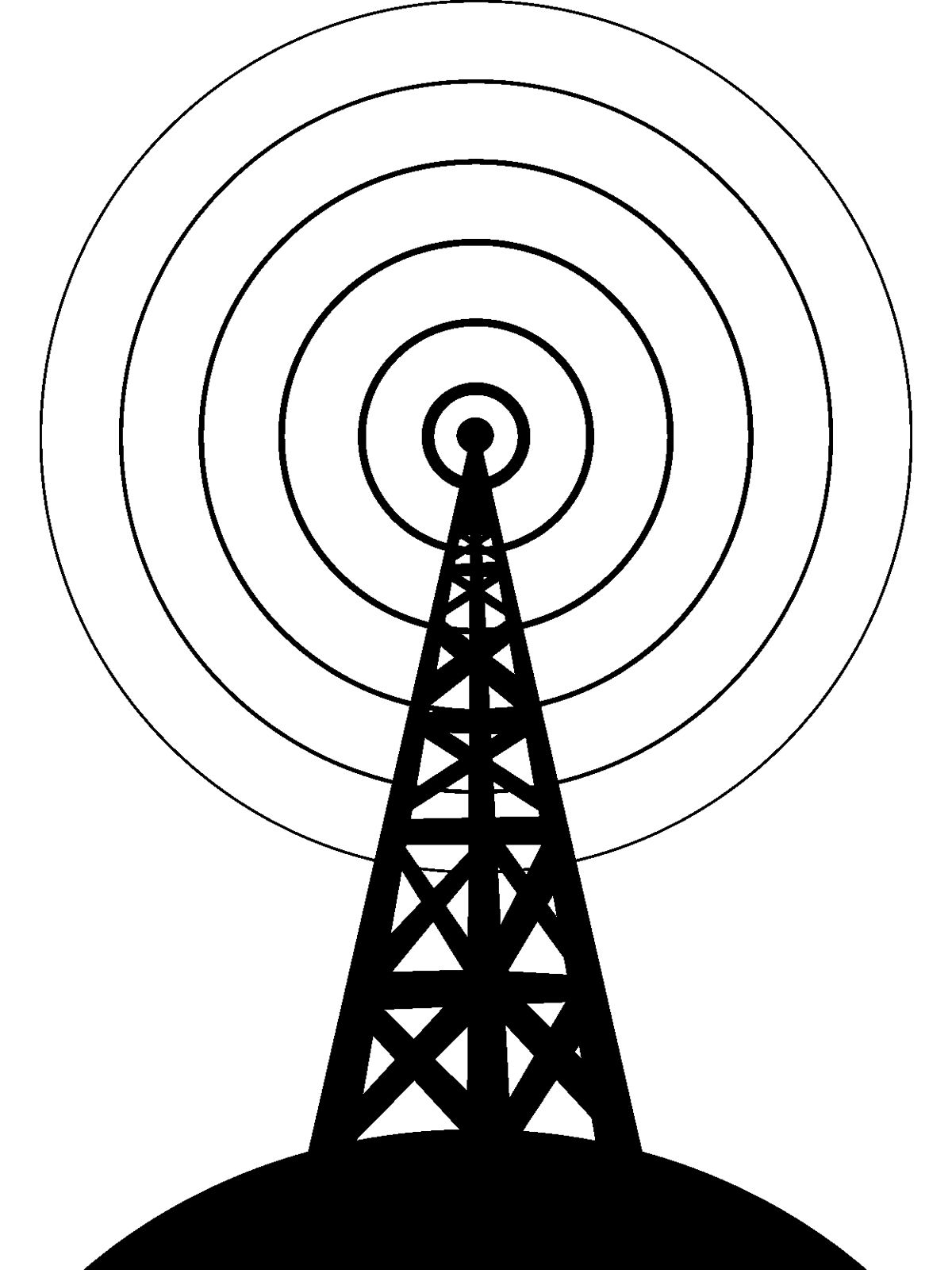 Free cell phoe tower clipart black and white banner transparent Radio Tower Drawing at PaintingValley.com | Explore collection of ... banner transparent