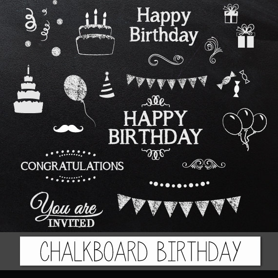 Free chalkboard clip art svg stock Free chalkboard clipart birthday - ClipartFest svg stock
